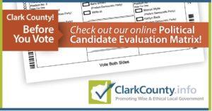 Political Candidate Evaluation Matrix