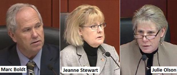 MarcBoldt, JeanneStewart, and Julie Olson