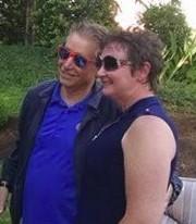 Columbian Editor Lou Brancaccio and Jennifer McDaniel.