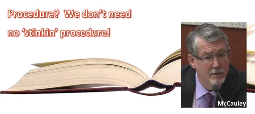 McCauley - no procedures
