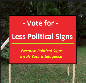 Now here is a sign we like.